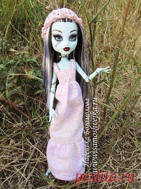 Платье и панамка для куклы Monster High (Школа Монстров)   Самошвейка - сайт для любителей шитья и рукоделия