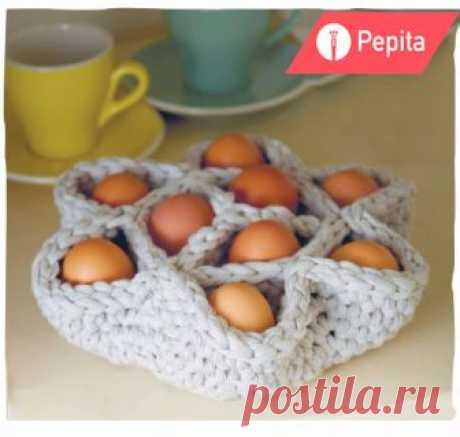 Корзинка для яиц: схема вязания крючком. Идея к Пасхе