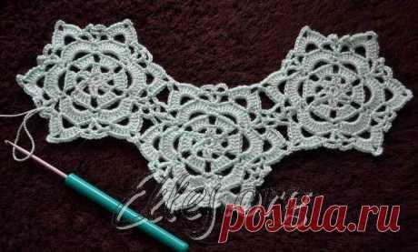 Безотрывный переход к новому мотиву — Crochet by Ellej | Вязание крючком от Елены Кожухарь
