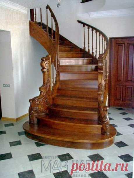 Изготовление лестниц, ограждений, перил Маршаг – Лестница и ограждения из массива дуба