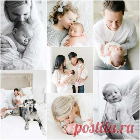 Идеи для фотосессии новорожденного в домашних условиях