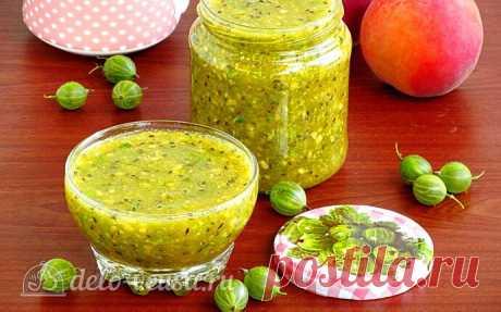 Сырой джем из крыжовника и персиков на зиму пошаговый рецепт с фото