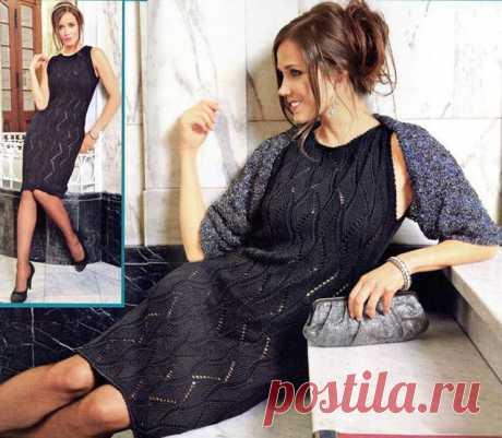 Платье спицами из шелка – 5 моделей со схемами и описанием, видео МК
