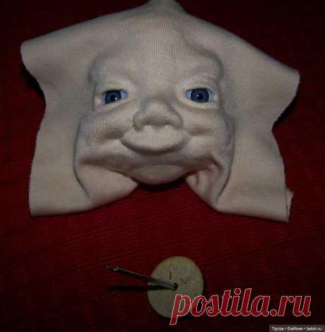 Шьем вместе. Текстильного младенца. Часть 6. Обтяжка головы трикотажем. Завершение / Онлайн совместное творчество / Бэйбики. Куклы фото. Одежда для кукол