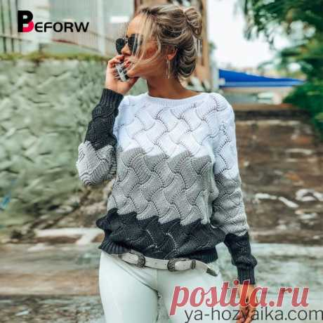 Женские пуловеры спицами с описанием. Связать красивый женский свитер спицами