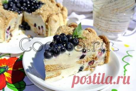 Желейно-сметанный торт с черникой - Пошаговый рецепт с фото | Десерты