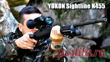 """◆►YUKON Sightline N455  Прицел ночного видения: - Оптическое и цифровое увеличение, - Дистанция ночного наблюдения 350 метров, - Простое управление одной кнопкой. Цифровой прицел ночного видения Yukon Sightline N455 с увеличением 4x и """"невидимой"""" LED ИК-подсветкой 940 нм предназначен для охоты, наблюдений или стрельбы в сумерках и ночью #прицел #ночной #yukon #цифровой #yukonsightline #yukonsightlinen455"""