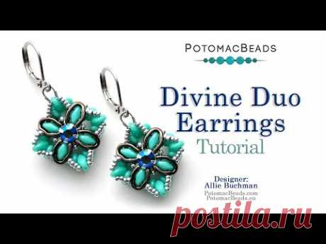 Divine Duo Earrings - DIY Jewelry Making Tutorial by PotomacBeads