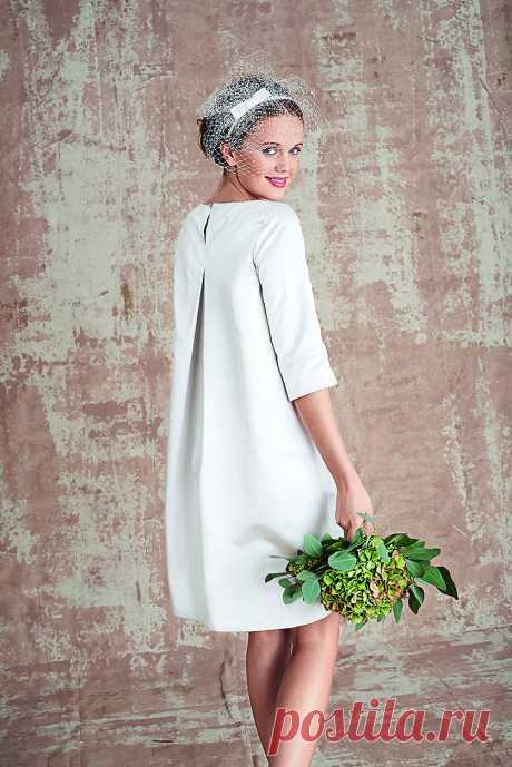 Платье а-силуэта - выкройка № 106 из журнала 3/2016 Burda – выкройки платьев на Burdastyle.ru