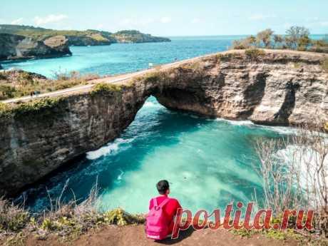 Красочные фотографии пляжей на острове Нуса Пенида в Индонезии . Чёрт побери