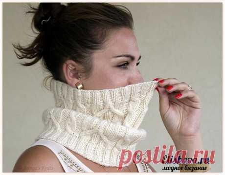 """La bufanda-tubo \""""las Espiguillas\"""" de Victoria Groger tejido por los rayos"""