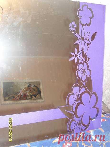 зеркало с цветами