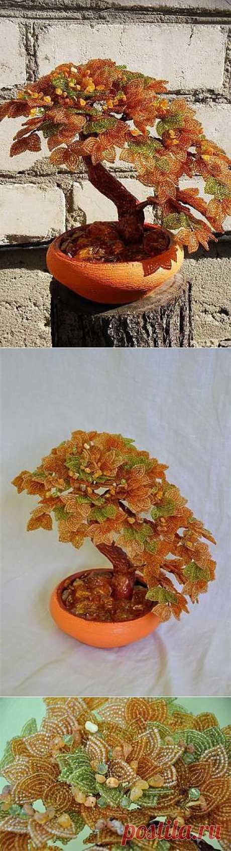 Янтарное дерево | biser.info - всё о бисере и бисерном творчестве