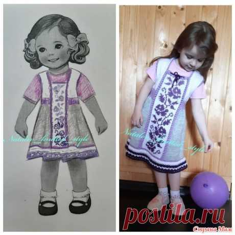 """Платье """"Май"""" для девочки спицами - Вязание - Страна Мам"""