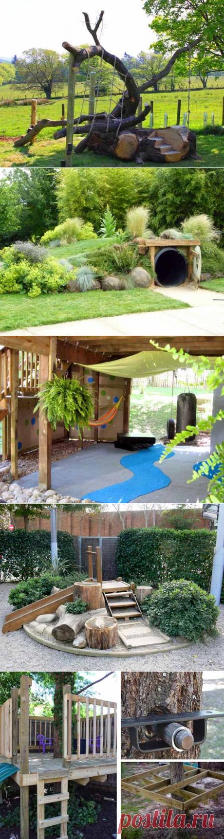 Детская площадка своими руками: 75 замечательных идей (+)