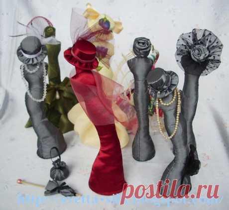 (2) Gallery.ru / Фото #1 - МК по изготовлению мини-манекенов. МК шляпки - anethka