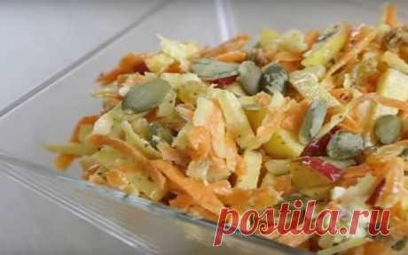 Превосходный витаминный салат с морковью | Бабушкины секретики