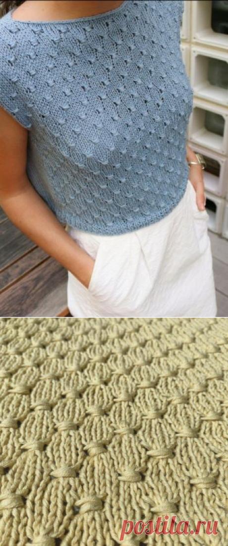 Простой летний топ спицами для женщин, Вязание для женщин