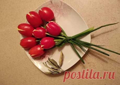 """Закуска """"Тюльпаны"""" Автор рецепта Евгения - Cookpad"""