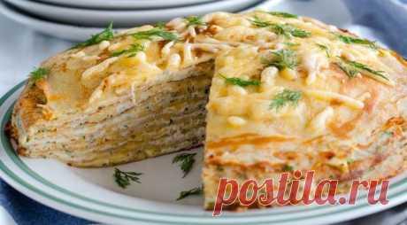 Когда простые блины надоели, можно приготовить блинный тортик 3 рецепта самых вкусных блинных тортов:  Блинный торт с курицей и грибами.  Ингредиенты Для б..