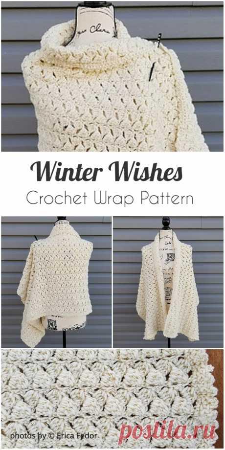 Winter Wishes Wrap - Crochet Pattern Idea   Diy Smartly