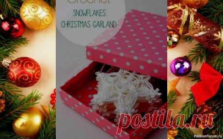 Новогодняя снежинка крючком. | новогодние подарки,поделки и костюмы