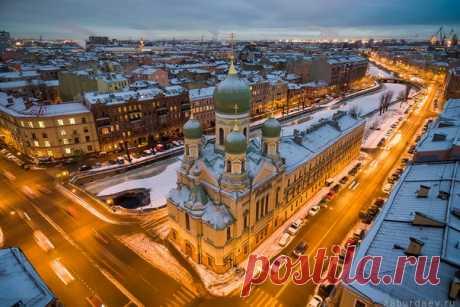 Недавно отреставрированная Исидоровская церковь в Санкт-Петербурге. Автор фото: Станислав Забурдаев.