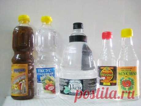 Чтобы получить столовый уксус из 70%-ной уксусной кислоты, нужно соблюсти следующие пропорции: