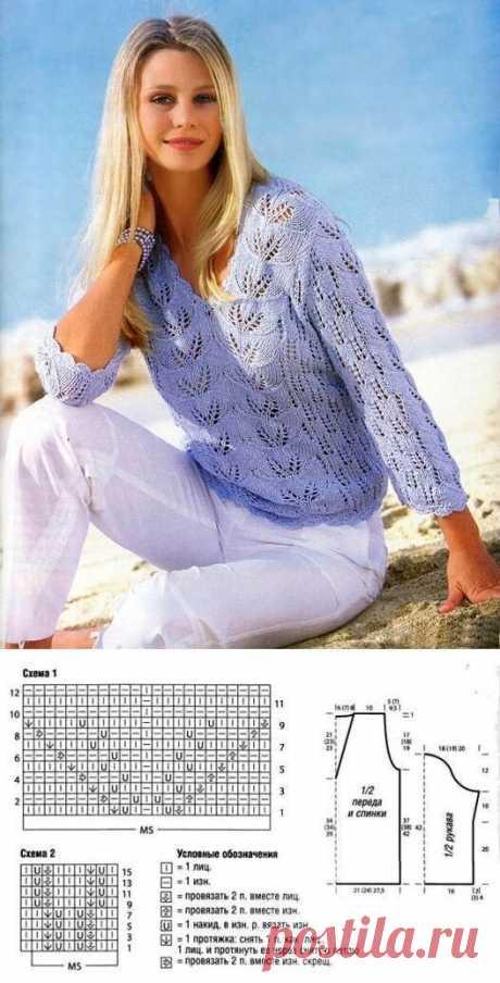 Кофточки, пуловеры, джемперы спицами на лето | Волшебные спицы | Яндекс Дзен