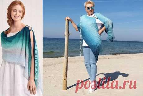 ВСЕ СВЯЗАНО. ROSOMAHA.: Палантин с переходом цвета из ALIZE - он точно такой!