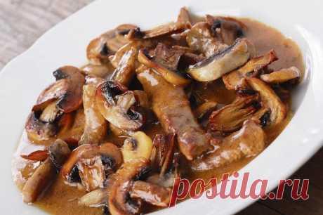 Свинина по-строгановски с грибами — Sloosh – кулинарные рецепты