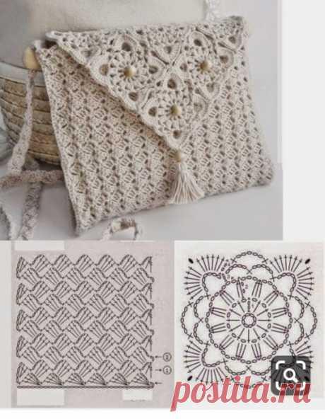 Идеи для милых сумочек, вязаных крючком