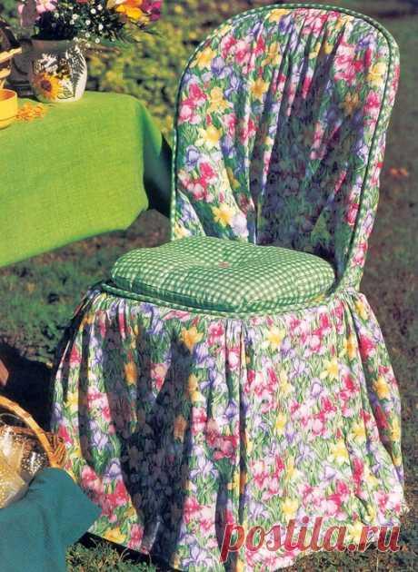 Las fundas para las sillas y otro encanto de coser para la casa