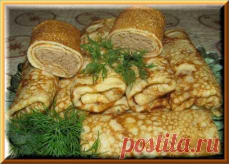 Блины с куриной печенкой и яйцами   Ода Кулинарии