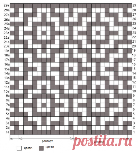 Мозаичное вязание крючком