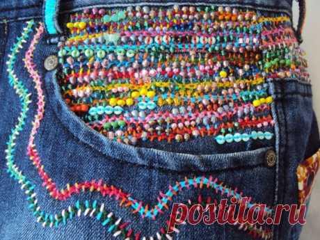 Вышивка-штопка-гобелен Модная одежда и дизайн интерьера своими руками