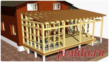 Как построить веранду к дому своими руками - все этапы работ