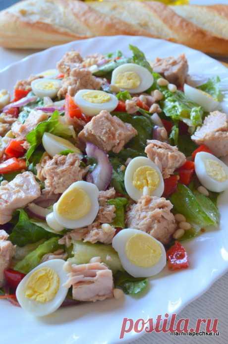 Салат с тунцом • домашний рецепт. С фото! Добавить рецепт в избранное!Достаточно посмотреть на ингредиенты, входящие в состав этого салата, чтобы понять — это тот самый случай, когда то, что полезно — еще и вкусно! Зелёные листья Романо, …