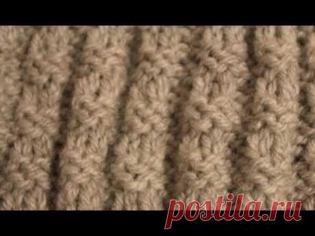 Mужской (и не только) узор спицами. Simple knitting pattern.