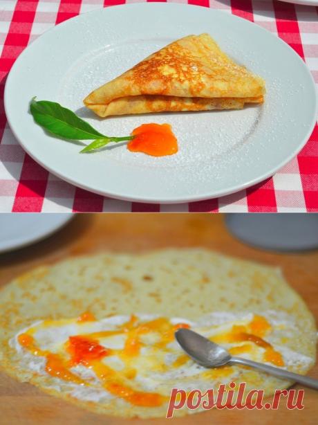 Как приготовить французские блинчики - рецепт, ингридиенты и фотографии
