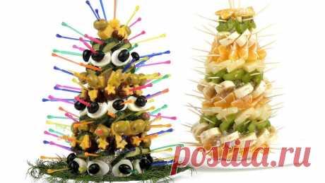 (5) Закусочные елки для новогоднего стола. Пошаговый... - Праздничный Стол - Видео Рецепты