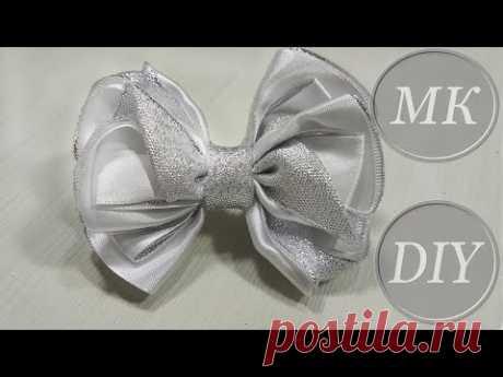 Банты для новогоднего утренника 🎀 Tutorial 🎀 Boutique Ribbon Bow For Christmas Eve 🎀 Lindo laço d - YouTube