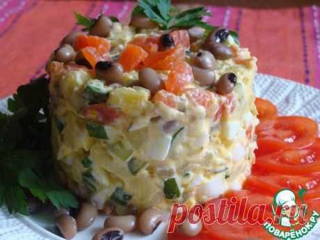 Нежный рыбный салат.