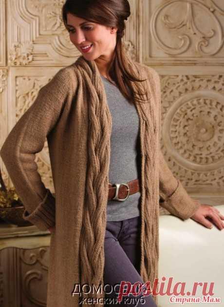 Красивый длинный вязаный жакет от Nancy Rieck - Вязание спицами - Страна Мам