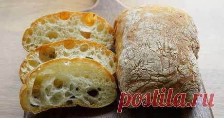 Вкуснейшая чиабатта: вы перестанете покупать магазинный хлеб Очень доступно и просто, без замеса теста!