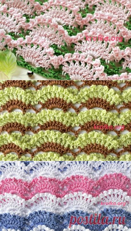 Вязание очень красивого объемного узора крючком. Объемные арки