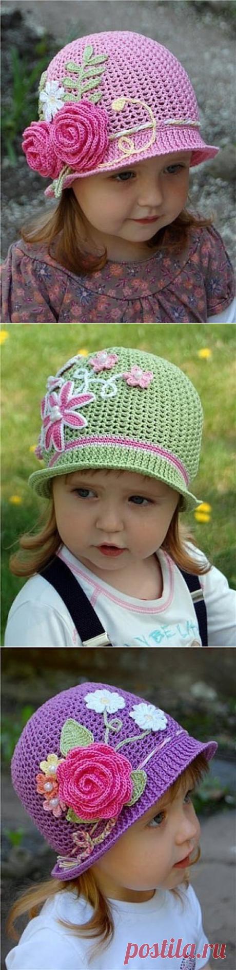 Летние шляпки-панамки для девочек (Вязание крючком) — Журнал Вдохновение Рукодельницы