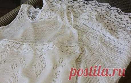 Платье «Камелия», вяжем спицами Новый конкурс с денежными призами! - условия читаем ЗДЕСЬ