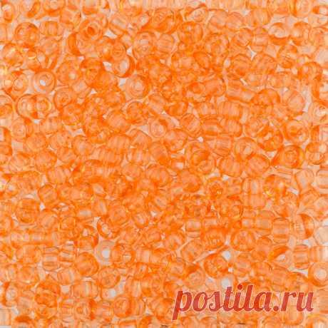 "Бисер круглый ""Preciosa"", 10/0, 500 грамм, цвет: 01184 (Ф416) оранжевый  "