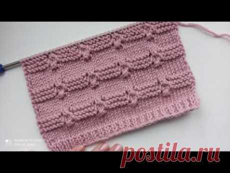 Простой рельефный узор спицами для вязания кардигана, жилета, джемпера.